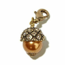HEIDI DAUS Crystal GOING NUTS Autumn Acorn CHARM Bracelet Necklace Purse NEW