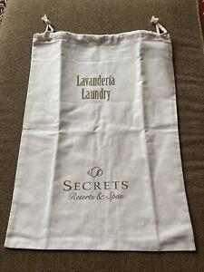 Secrets Resort & Spas Cloth Large Laundry Bag Drawstring Mexico