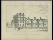 PARIS TERRAGE, DEPOT DU CHEMIN DE FER DE L'EST -1887- 2 PLANCHES ARCHITECTURE -