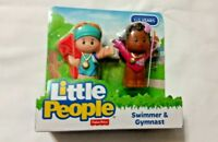 Little People Toy Figures Olympic Gymnast Swimmer Set of 2 Fisher Price Toy