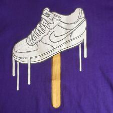 Nike Air Force One  Shirt Men Purple XL White Classic Ex Boyfriend Style Ball
