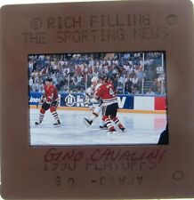 Gino Cavallini ST LOUIS BLUES Calgary Flames Quebec Nordiques ORIGINAL SLIDE 3