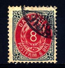 DENMARK - DANIMARCA - 1875 - Cifra e stemma in doppio ovale