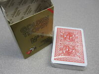 Modiano Plastic Playing Card Deck, GOLDEN TROPHY RED, Made in Italy, New