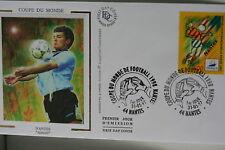 ENVELOPPE PREMIER JOUR SOIE 1997 COUPE MONDE FOOTBALL
