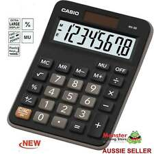 CASIO MINI DESK CALCULATOR 8 DIGIT NEW MX-8B MXS EXTRA LARGE DISPLAY