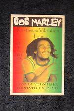 Bob Marley Tour Poster 1976 Toronto Ontario Canada Conv Hall