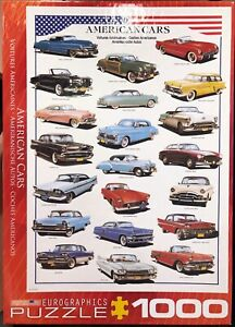 AMERICAN CARS Jigsaw Puzzle – EUROGRAPHICS COMPLETE 1000 Piece Used Once