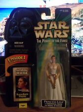 Star Wars POTF Princess Leia in Ceremonial Dress with Medal of Honor MOC NEW!!