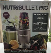 NutriBullet Blender pro 900w 15pcs Juicer Extractor Mixer Grey Sp.Sale!2017Model