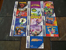 Nintendo Game Boy Color Booklets Spiderman + 12 More Booklets Only
