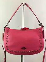 NWT COACH Chelsea DK/ Dahlia in Floral Rivets  Crossbody Satchel Bag #37711