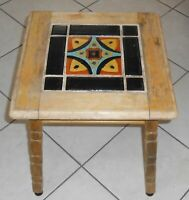 Vintage 1930's California Pottery 9-Tile Top Table