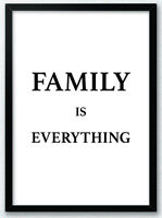 Family is Everything Typography Art Print Poster Inspirational Art Home v2