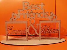 Mdf Personalised Wood Text Block Best Friend Friendship Love Names Gift