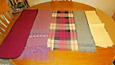 Lot 5 Various Neck scarves: Christian Dior,Sammy Gt Britain,Australian Wool, etc