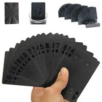 Poker Cards Hologram Waterproof Matte Black Magic Playing Cards Game Gift Toys