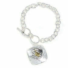 Serenity Prayer Toggle Bracelet With Charm God Grant Me The Serenity Unisex Gift