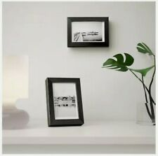 """Open box - IKEA Ribba black Picture Frame 4""""x6"""" Matted"""