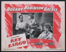 KEY LARGO HUMPHREY BOGART LAUREN BACALL TREVOR 1948 LOBBY CARD #4