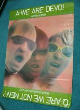 "DEVO Are We Not Men We Are Devo 1978 UK Virgin Records Poster 28"" x 37"""