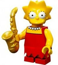 The Simpsons Lego collectible minifig Lisa Simpson with pearls and saxaphone