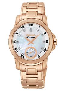 Seiko SRKZ58 SRKZ58P1 Ladies Premier Rose Gold Diamond Watch MOP RRP $895.00