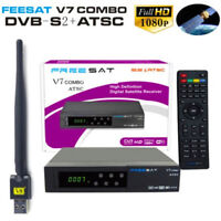 Satellite TV Receiver V7 HD 1080P DVB-S2 ATCS + USB WIFI Support YouTube PVR DH