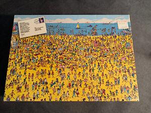 WHERE'S WALDO? On The Beach - Vintage 100 piece children's jigsaw puzzle Rare