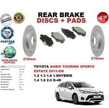 FOR TOYOTA AURIS E18 ESTATE TOURING SPORTS 13-ON REAR BRAKE DISCS SET + PADS KIT