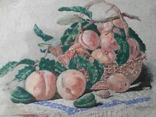 """Embroidered picture """"Peach Basket"""""""
