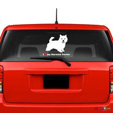I Love My Norwich Terrier Windshield Sticker Vinyl Auto Window
