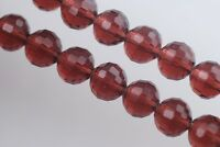 30pcs 8mm 96Facet Round Faceted Ball Crystal Glass Loose Beads Reddish Violet