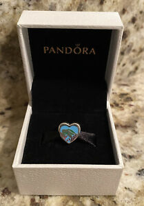Pandora Authentic Florida Exclusive Turtle Heart Charm RARE