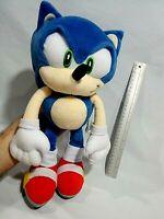 """Rare SONIC THE HEDGEHOG Large 15"""" Tall Plush Doll SEGA JOYPOLIS PRIZE Japan Only"""