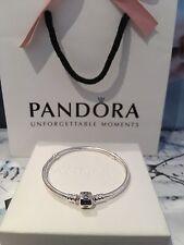 Brand New Genuine 19cm Pandora Moments Silver Clasp Bracelet  #590702HV RRP£55