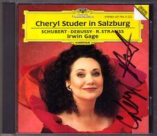 Cheryl STUDER Signiert In Salzburg DEBUSSY Ariettes ouliées STRAUSS SCHUBERT CD