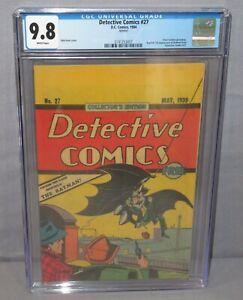 DETECTIVE COMICS #27 (Oreo Cookies giveaway reprint) CGC 9.8 DC 1984 Batman