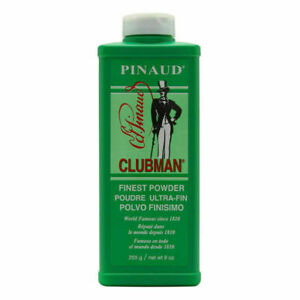 Pinaud Clubman Finest Talcum Powder - Face/Body Powder - Control Moisture - 9oz