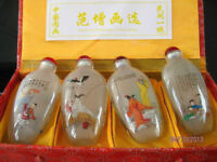RARE CHINESE OLD INSIDE HAND PAINTING GLASS Historical figures SNUFF BOTTLE