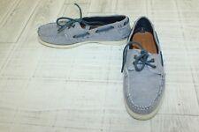 Tommy Hilfiger Bowman Boat Shoes - Men's Size 8.5, Dark Blue Fabric