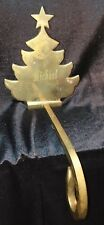 """Stocking Holder Solid Brass Christmas Tree Mantle Made In India """"Michael"""""""