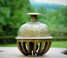 COLLECTABLE VINTAGE OLD BRASS CLAW BELL * TABLE BELL  * ORIGINAL COND.