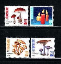 SELLOS SETAS SUIZA 1994 1464/67 4v. B