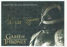 Game of Thrones Season 8 Gold Autograph Hafpor Julius Bjornsson Gregor Clegane