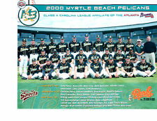 2000 MYRTLE BEACH PELICANS 8X10 TEAM PHOTO  BASEBALL ATLANTA BRAVES