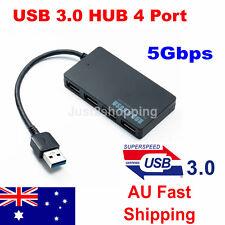 Multi USB 3.0 Hub 4 Port High Speed Slim Compact Expansion Smart Splitter