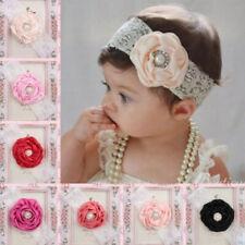 3pcs Kid Girl Baby Lace Infant Headband Flower Newborn Hairband Head Wrap Turban