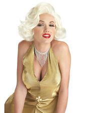 Classic Marilyn Monroe 50s Platinum Blonde Curly Women Costume Wig