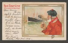 [68208] PMC POSTCARD RED STAR LINE ARTIST SIGNED CASSIERS ART CARD B-3 from MENU